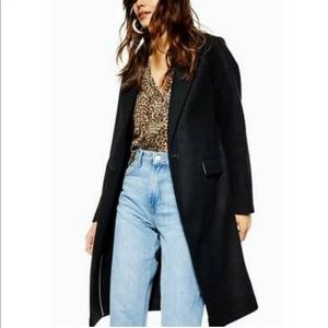 Topshop Oversized Midi Relaxed Lily Coat 2227